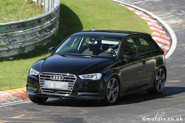New Audi S3 Spied Undisguised Testing Around The Nürburging