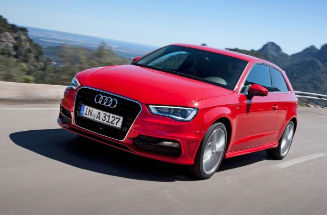 New Audi A3 on the road