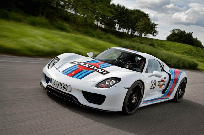Porsche 918 Spyder In Iconic Martini Design – Official Pictures