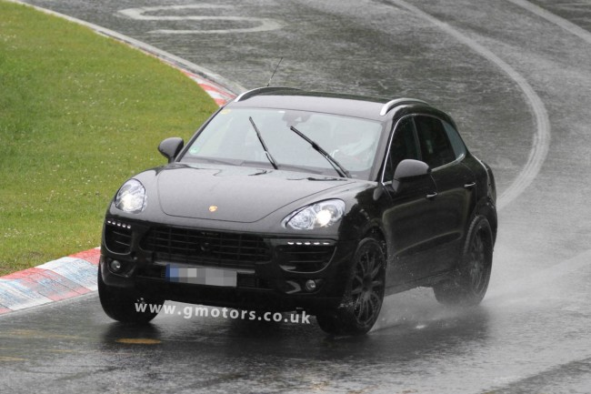 2014 Porsche Macan Spied On The Nürburgring In Heavy Rain
