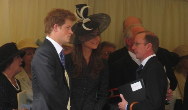 Prince Harry and Kate Middleton at the Garter Procession