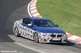 2014 BMW 4 Series Coupe spied with M sport package
