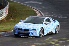 2014 BMW i8 hybrid sportscar caught for the first time testing at the Nürburgring