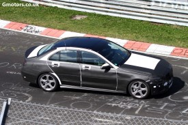 Next Mercedes-Benz C-Class loses more camouflage, hits the 'Ring