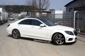 New Mercedes-Benz S-Class spied almost undisguised in white