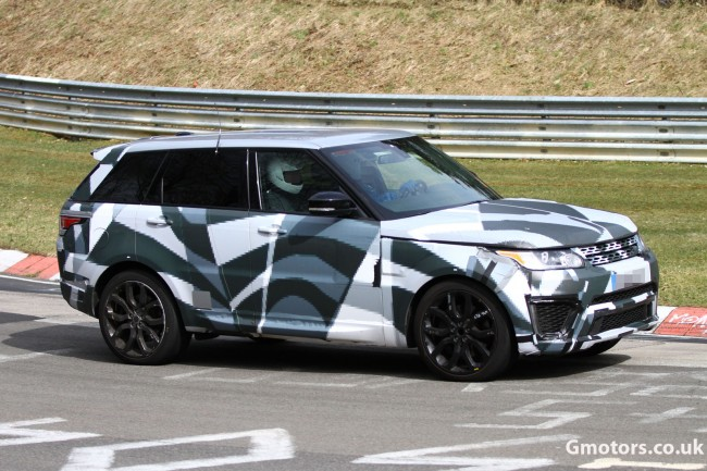 2014 range rover sport r s caught testing on the n rburgring for Baker motor company land rover
