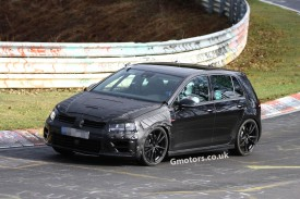 New Volkswagen Golf VII R spied nearly undisguised on the Nürburgring