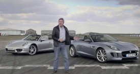 Jaguar F-Type vs. Porsche 911 Cabriolet on the track with Tiff Needell