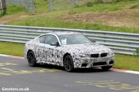 2014 BMW M4 spied less disguised at the Nürburgring