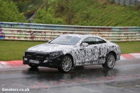 Mercedes S-Class Coupe caught testing on the Nürburgring