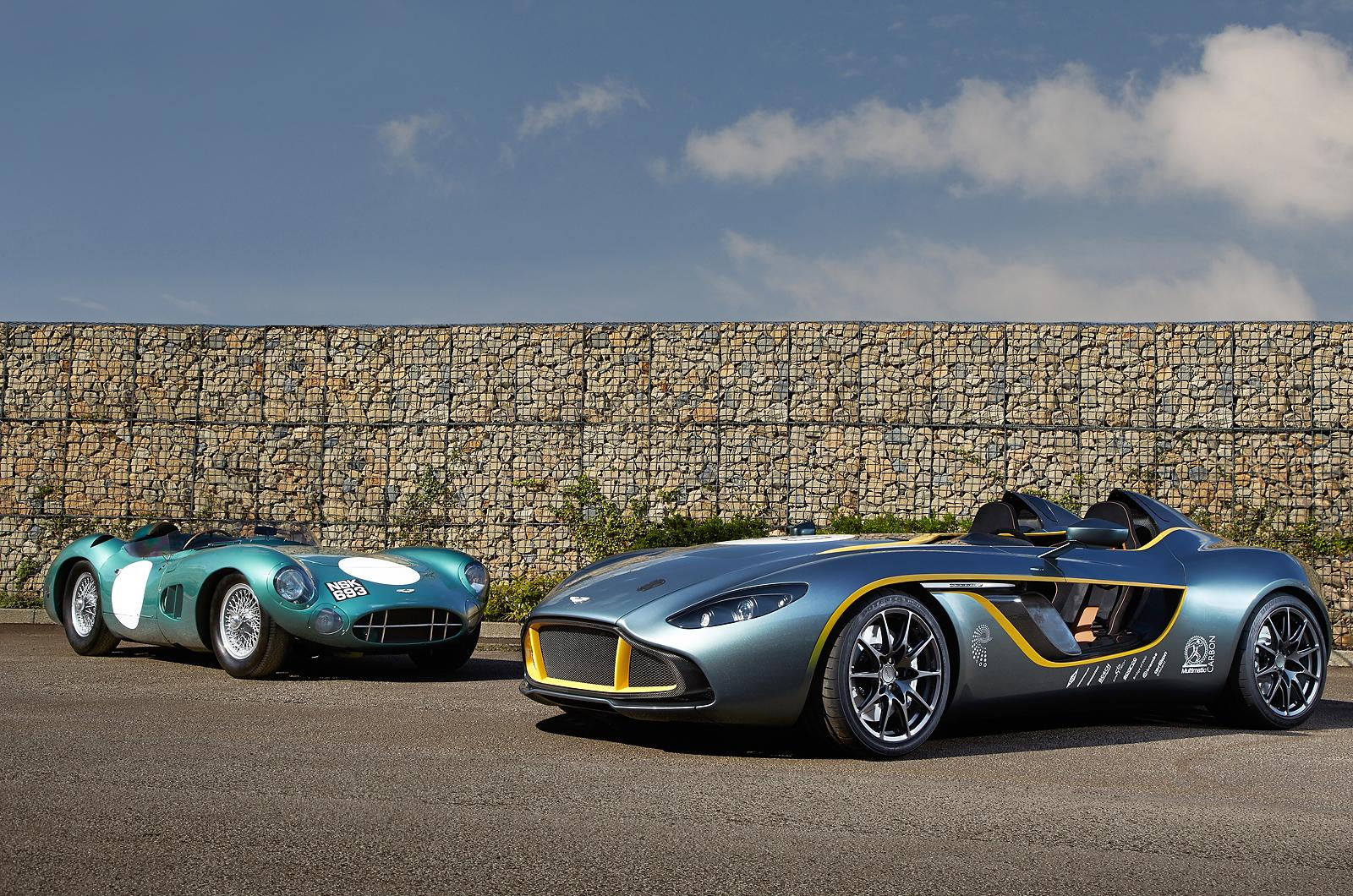 Aston Martin CC100 Speedster Concept  and 1959 DBR1
