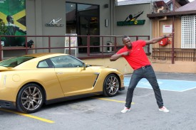 Usain Bolt gets an exclusive gold-painted Nissan GT-R