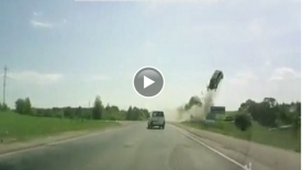 Russian dash cam catches another horrific accident