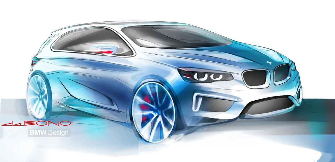 BMW Concept Active Tourer design sketch