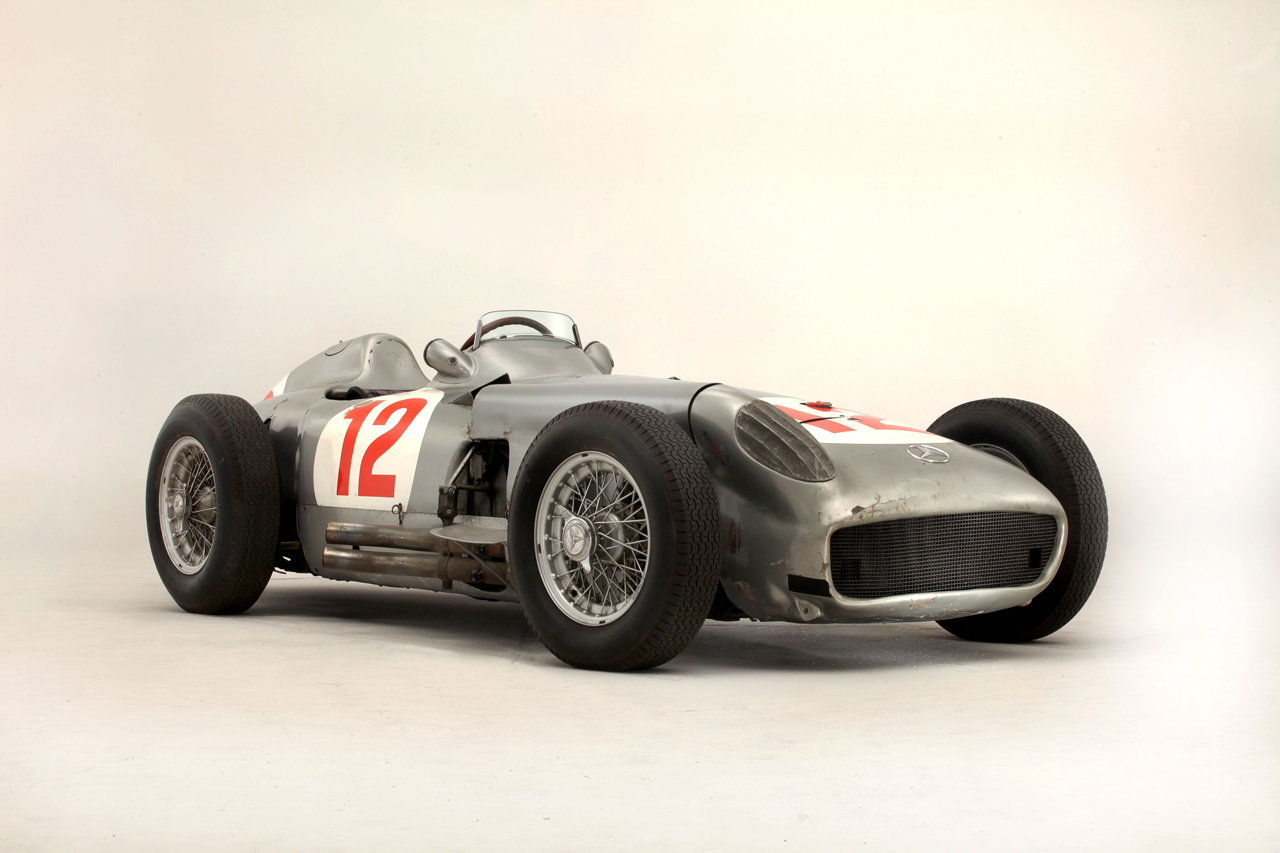Fangio's 1954 Mercedes-Benz W196R Formula 1 single-seater