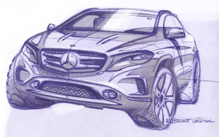 Mercedes-Benz GLA design sketch