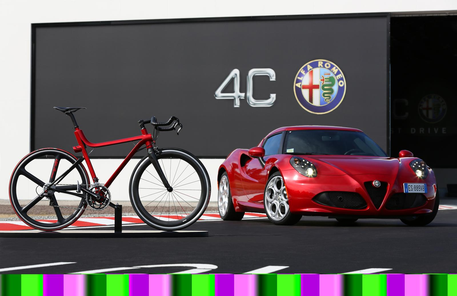 4C IFD bicycle inspired by the Alfa Romeo 4C