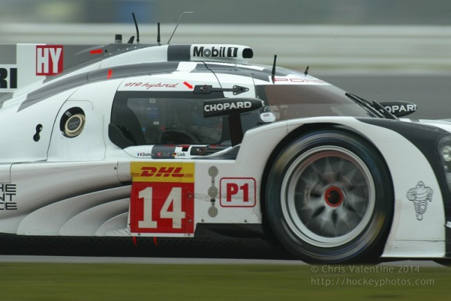 The #14 Porsche 919 was forced to retire