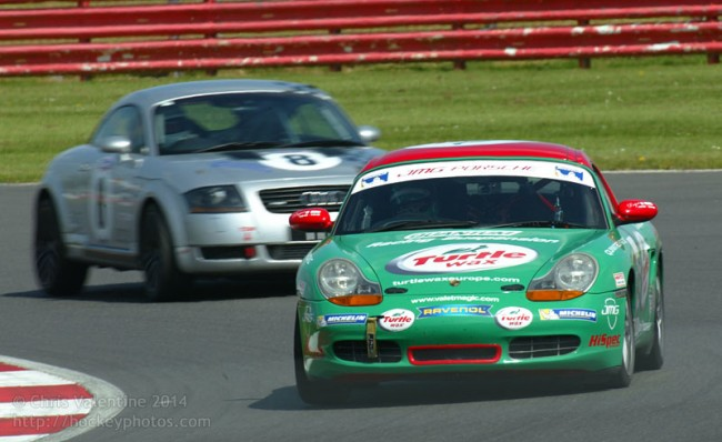 Rebecca Jackson in the Turtlewax Boxster