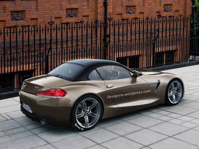 2017 BMW Z4 roadster rendering 2