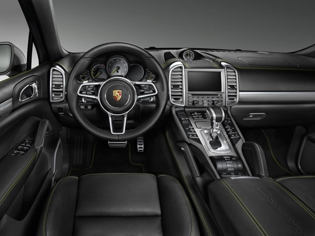Porsche Cayenne S E-Hybrid by Porsche Exclusive interior dashboard