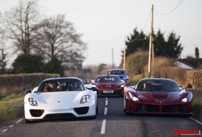 Paul Bailey's Porsche 918 Spyder, LaFerari and McLaren P1