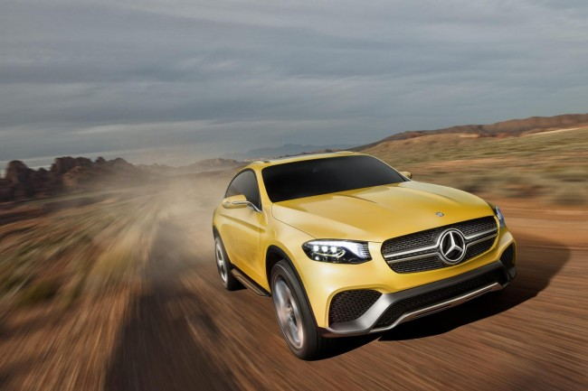 Mercedes-Benz Concept GLC Coupe front road