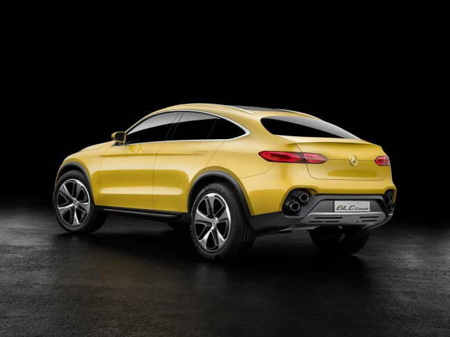 Mercedes-Benz Concept GLC Coupe rear exhaust