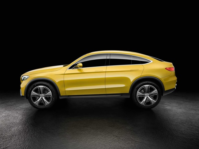 Mercedes-Benz Concept GLC Coupe side profile