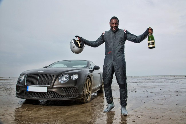 Idris Elba Bentley Continental GT Speed record run