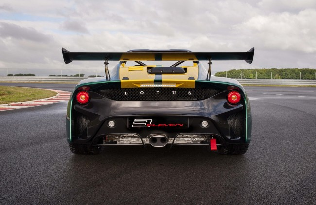 2016 Lotus 3-Eleven on the track rear 2