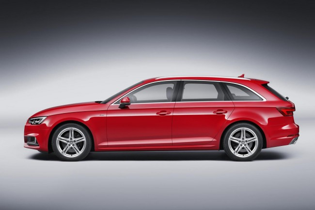 2016 Audi A4 Avant red side