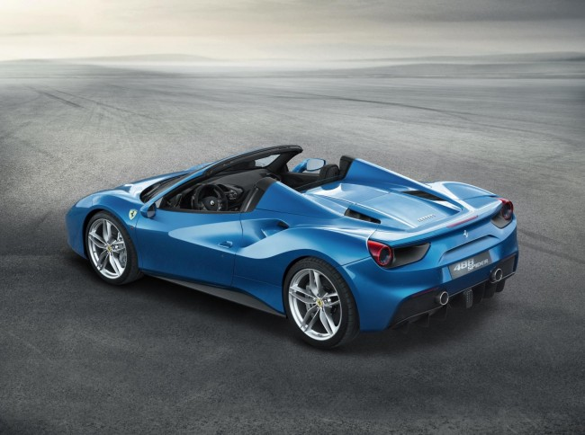 Ferrari 488 Spider top down
