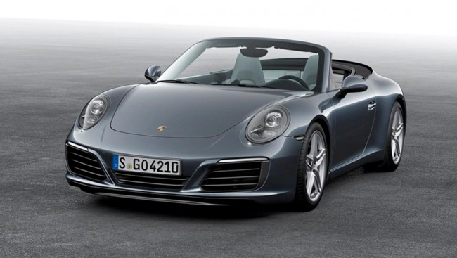 The front spoiler takes styling cues from the 991 GT3