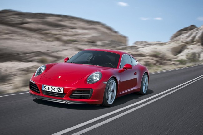 New Porsche 911 Carrera S front