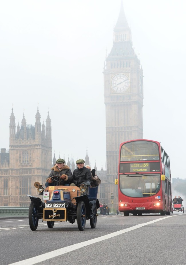 The Car Run crosses Westminster Bridge